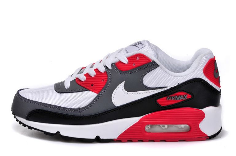 buy popular 99850 bf744 air max 90 blanc gris rouge